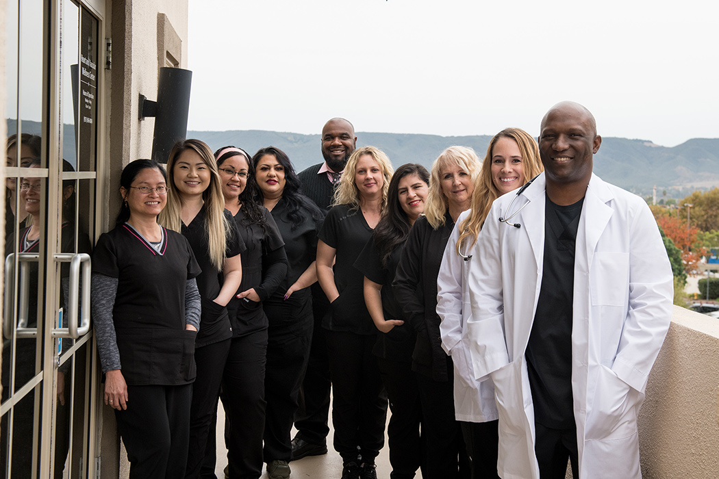 temecula cardiologist Ganiyu Oshodi, MD and staff